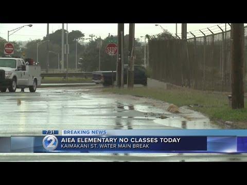 Aiea Elementary school closed after water main break