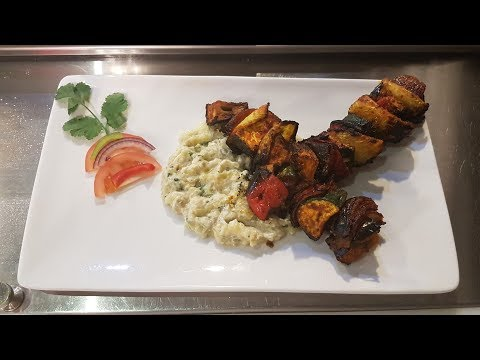 Veg Shashlik + Brinjal Puree Cooked by Chef Najib Ali @ Gril