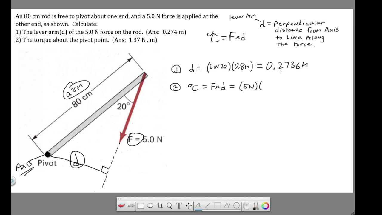 draw a diagram math problems ansul system how it works ch 8 - torque calculating lever arm and youtube