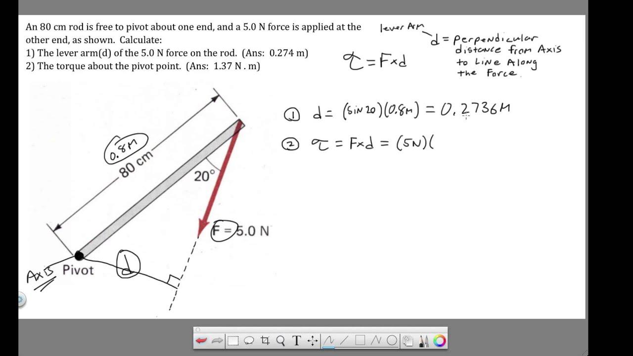 Ch 8 - Torque - Calculating Lever Arm and Torque