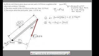 Ch 8 - Torque - Calculating Lever Arm and Torque