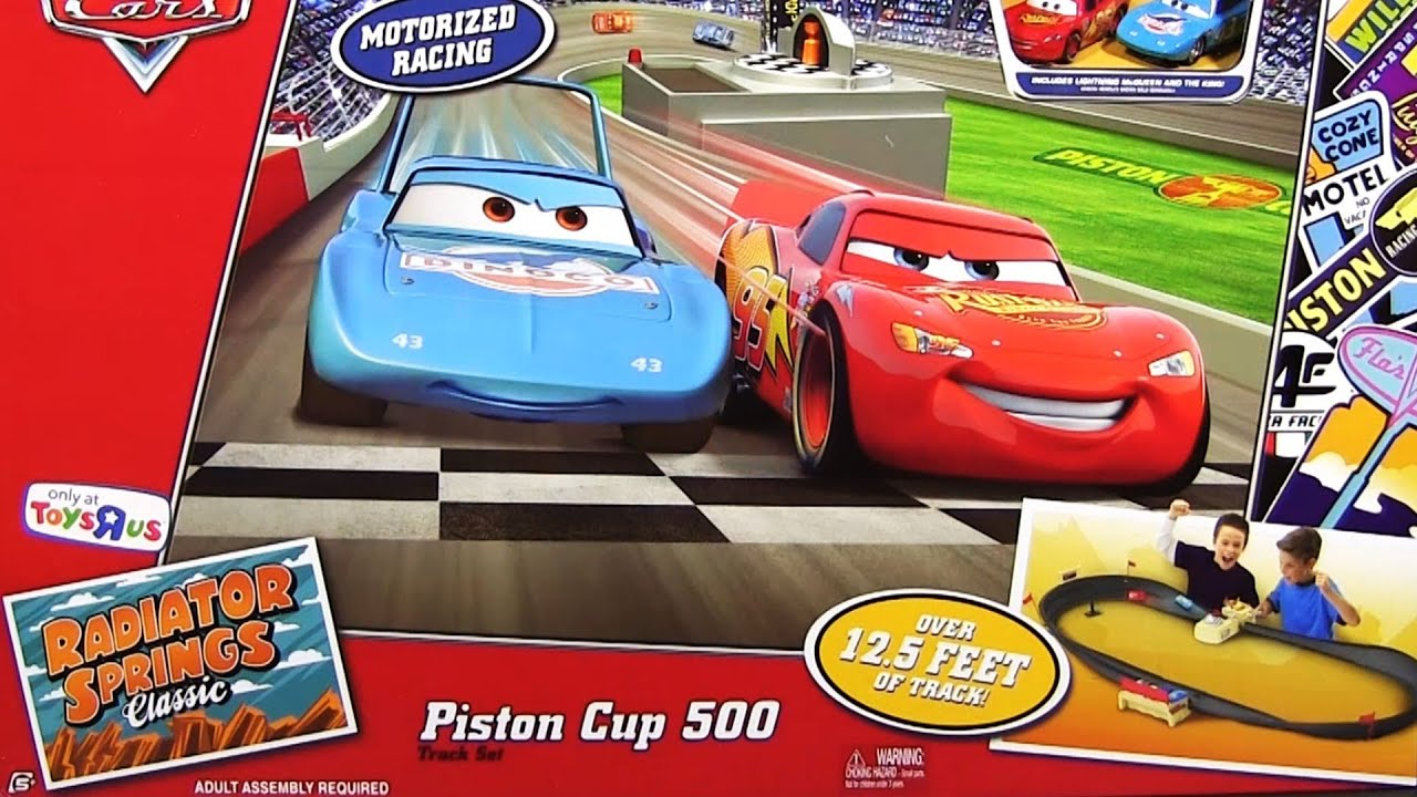 piston cup 500 race track set radiator springs classic toysrus mattel disney pixar cars youtube