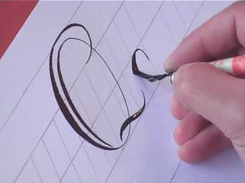 How To Write Copperplate The Letters Q Q Youtube