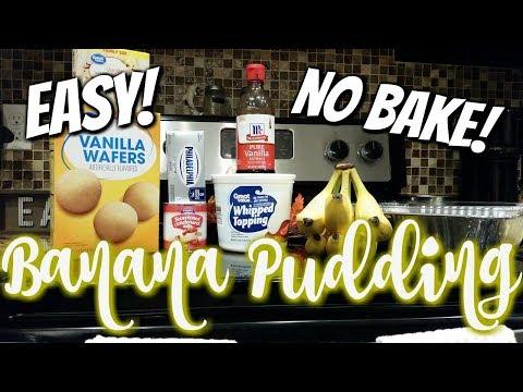 BANANA PUDDING~EASY NO BAKE~FOODIE FRIDAYS!