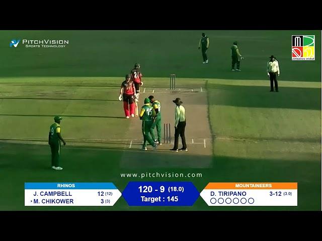 Zimbabwe Domestic T20 | 5th Match | Rhinos vs Mountaineers
