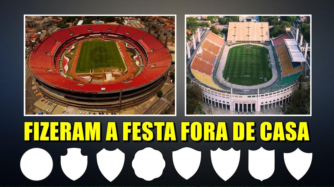 Clubes de FORA de São Paulo que já foram CAMPEÕES no MORUMBI e PACAEMBU