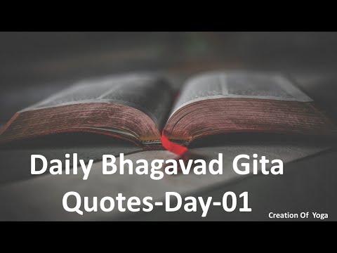 Daily Bhagavad Gita Quotes Day 01