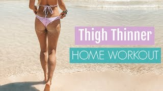 Thigh Thinner Workout - SHAPE UP & TONE YOUR LEGS | Rebecca Louise