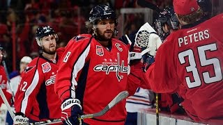 Ovechkin shatters lens of net cam with hard shot