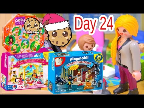 Polly Pocket, Playmobil Holiday Christmas Advent Calendar Day 24 Toy Surprise Opening Video