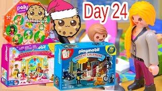 polly pocket playmobil holiday christmas advent calendar day 24 toy surprise opening video