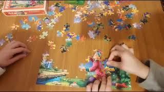 Жар птица детский пазл, учимся собирать пазлы. Heat bird jigsaw puzzle, learning to assemble puzzles