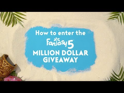 Fantasy 5 One Million Dollar Giveaway: How To Enter