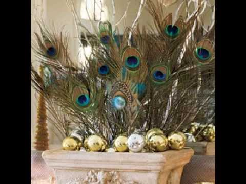 Simple peacock decorating ideas youtube for Home decorations peacock