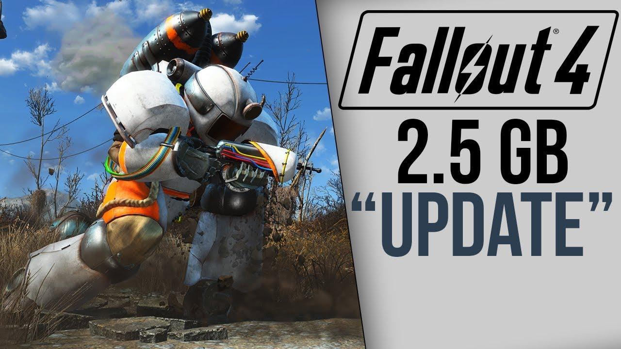 fallout 4 got a 2 5gb update youtube
