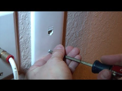 How To Install A Network Jack Into A Wall From The Attic.