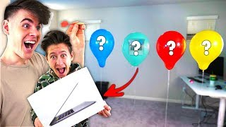 Popping a BALLOON & BUYING What\'s Inside Challenge