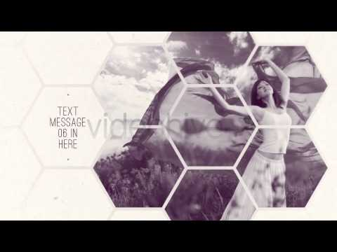 clean white hexagon presentation - youtube, Presentation templates
