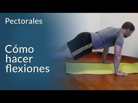 Cómo hacer flexiones para pecho