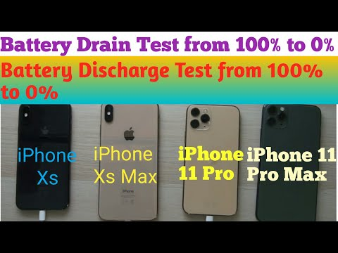 Battery Drain Test- IPhone 11 Pro Max Vs IPhone 11 Pro Vs IPhone Xs Max Vs IPhone X |||