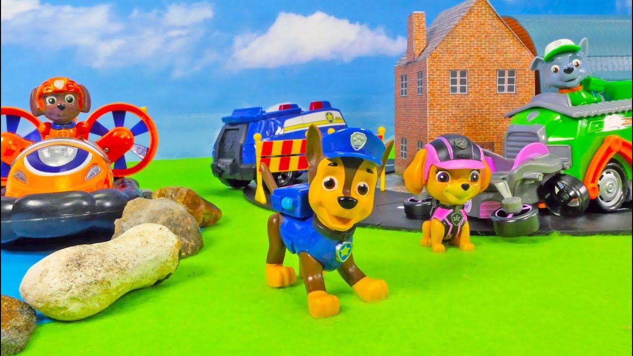 Paw Patrol Spielzeug Kinderfilm 🚨 Einsatzfahrzeuge für Kinder mit Chase, Zuma, Rocky, Skye image
