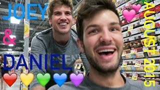 CUTE JANIEL MOMENTS | JOEY & DANIEL AUGUST 2015