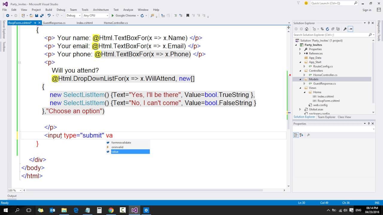 6 ASP NET MVC Course Your First MVC Application Building Simple Form ...