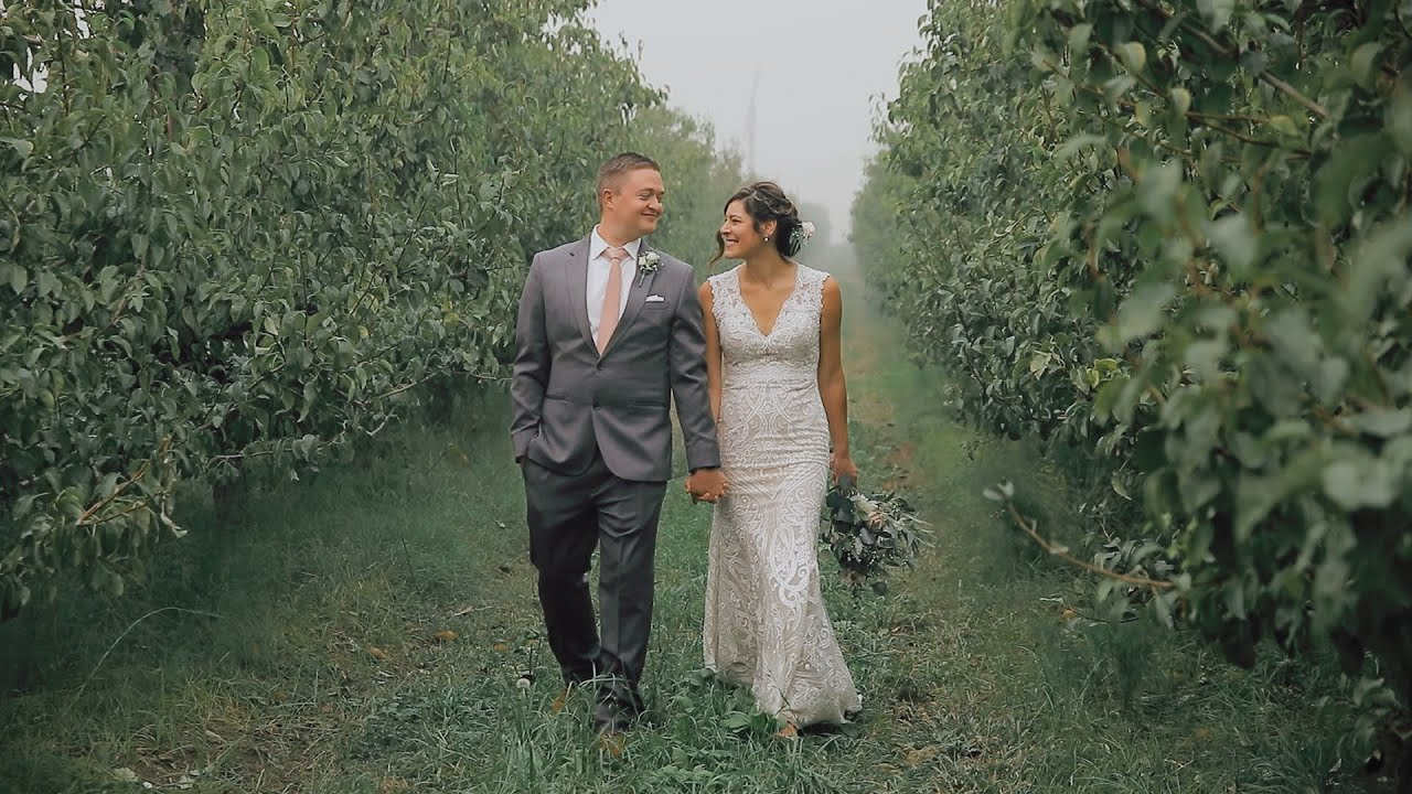 Priscilla and Joe's wedding in Medford, Oregon during the wildfires
