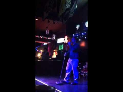 Kevin (singing Karaoke at sports page)