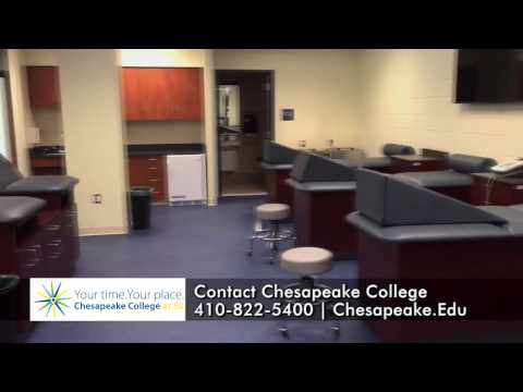 Chesapeake College New Building Tour - New Athletic Training Room with Nick Williams