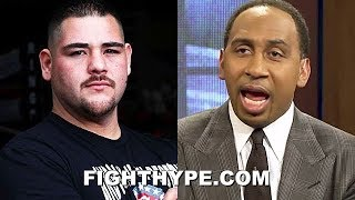 ANDY RUIZ & STEPHEN A. SMITH TRADE WORDS OVER DISRESPECT OF JOSHUA KNOCKOUT UPSET VICTORY