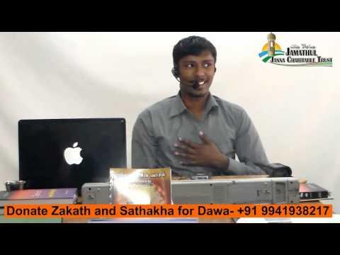 Tamil Islam Convert Kumaraguru Way to Paradise Class