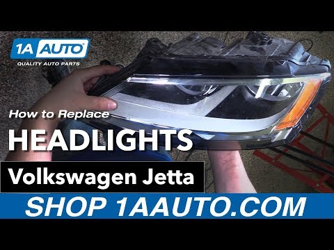 How to Replace Headlights 11-16 Volkswagen Jetta