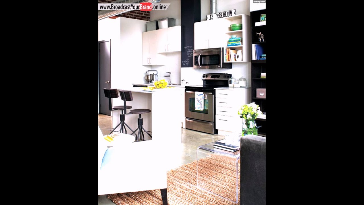 kleine k che essplatz gestalten wei e farbe einbauger te theke youtube. Black Bedroom Furniture Sets. Home Design Ideas