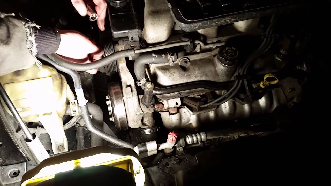 gm 3 4l pontiac grand am power steering pump youtube rh youtube com  pontiac montana power steering diagram