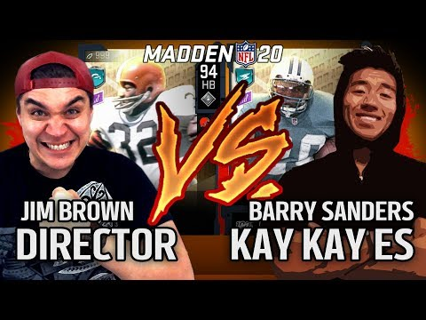 "Director vs KayKayEs - My ""Jim Brown"" vs His ""Barry Sanders"" 