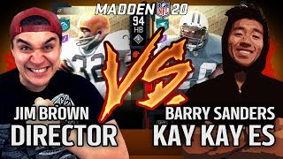 Director vs KayKayEs - My quotJim Brownquot vs His quotBarry Sandersquot  Madden 20 Gameplay - NFL 100