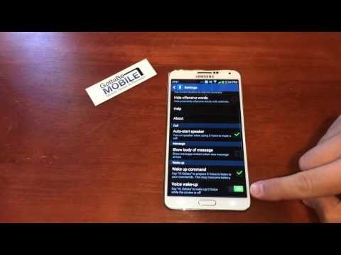 How to Use S Voice with the Galaxy note 3 Display Off