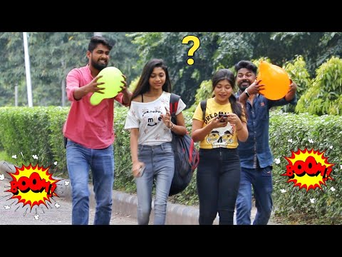 🎈Balloon Blast Prank on Cute Girls 😱😱 Part-3 by PrankBuzz