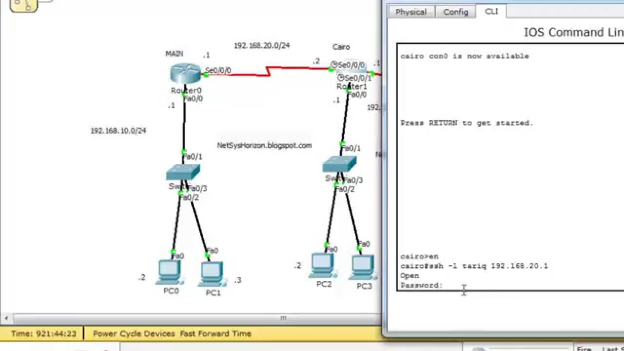 SSH from cisco router and switch to another