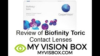 Review of Biofinity Toric Contact Lenses