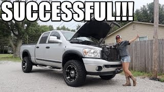 MY WIFE INSTALLED PARTS ON MY 5.9 CUMMINS!!!
