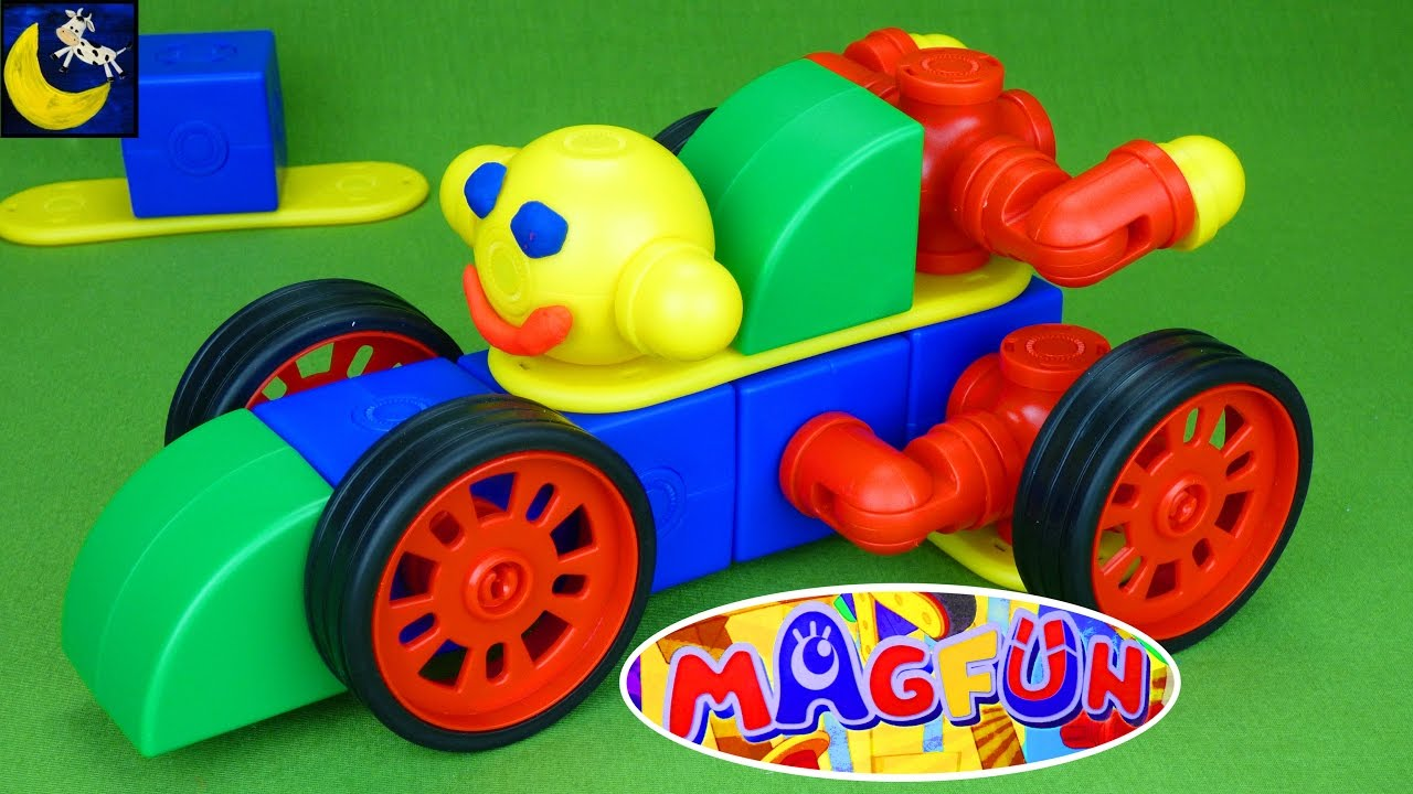 Magfun Magnetic Building Blocks Toys For Kids Create Cars