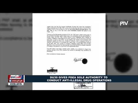 President Duterte gives PDEA sole authority to conduct anti-illegal drug operations