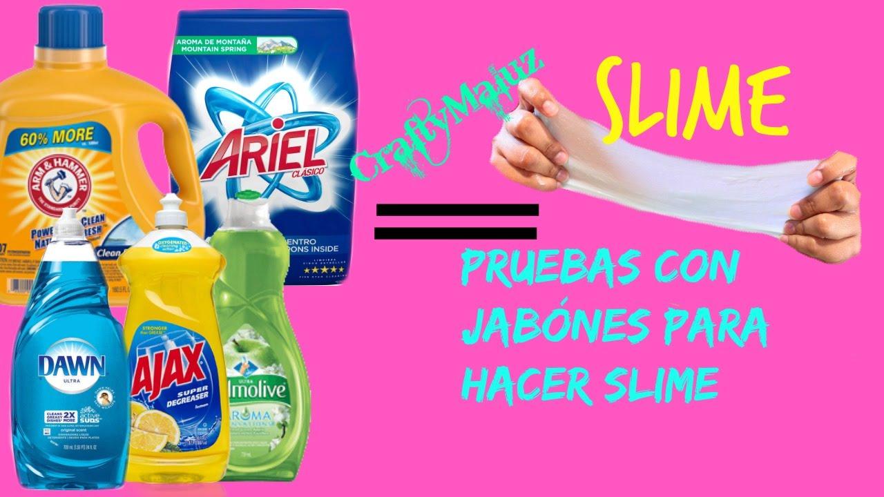 Pruebas con jab nes para hacer slime como hacer slime con - Como hacer plastico liquido ...