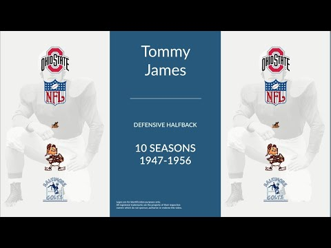 Tommy James: Football Defensive Halfback