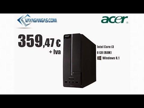 Pc de mesa acer aspire xc 605 h wlp youtube for Ordenadores mesa baratos
