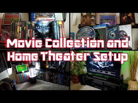 Movie Collection and Home Theater Setup 2017 - Blu-ray's, DVD's, VHS