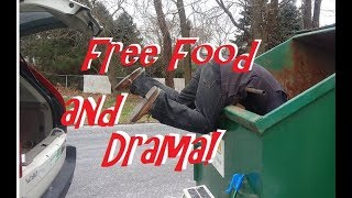 Dumpster Diving For Food, We Met Two Store Employees ~ What Happened Next? TOTAL DRAMA!