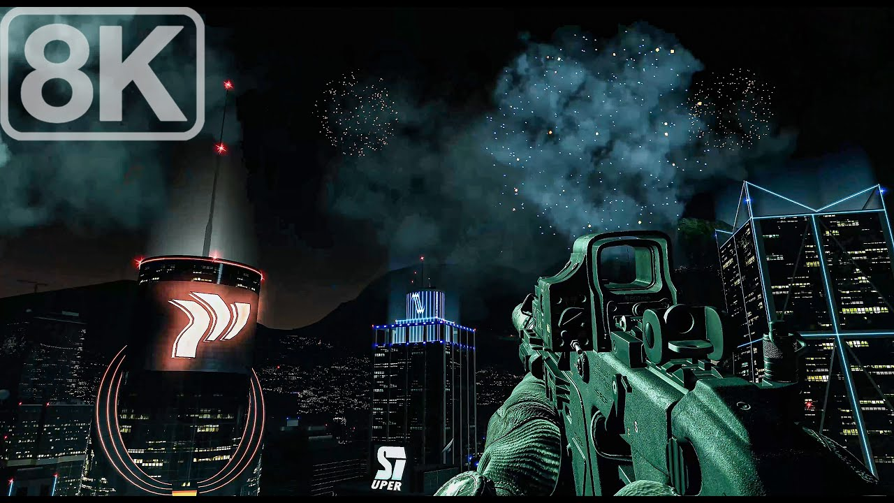 Caracas Night Ops (Secure The HVT) Call of Duty Ghosts - 8K